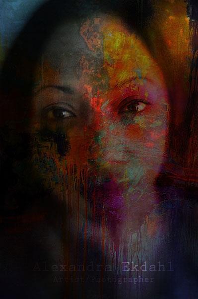 Photographer Artist Alexandra Ekdahl Stockholm Sweden India photosbyalexandra Nillufar digital artist art woman face color 1