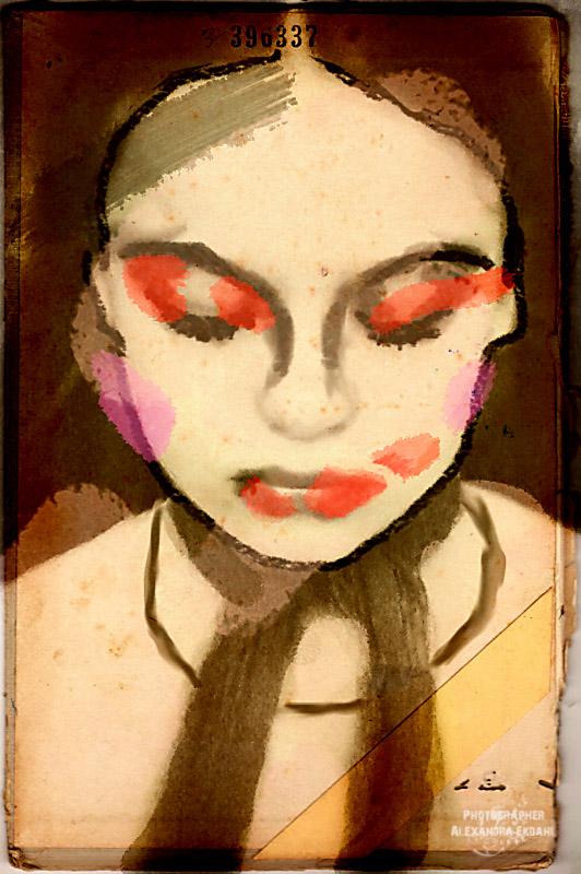 Photographer-Alexandra-EKdahl-Fotograf-StockhOLM-aRTIST-MODEL-MODELL-MAKEUP-surreal-surrealism-horror-horror-photographer-horror-photography dark - color paint digital art