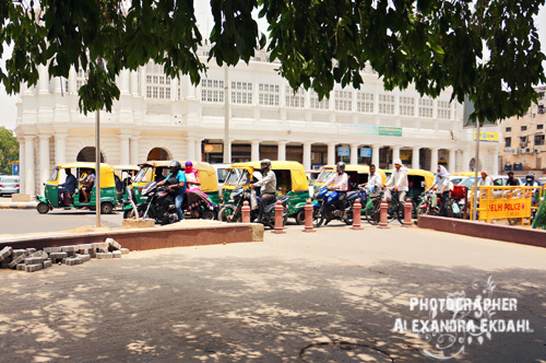 India new Delhi Taxi photographer  connaught place Alexandra Ekdahl