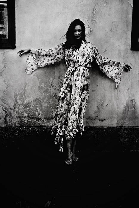 Photographer Alexandra Ekdahl Stockholm. Dress by Loni Model Maria horror photography art dark 4